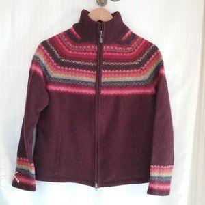Eddie Bauer Fair Isle Nordic Wool Blend Sweater. L